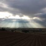 朝、光のカーテン
