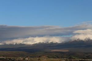 十勝岳山脈、雪
