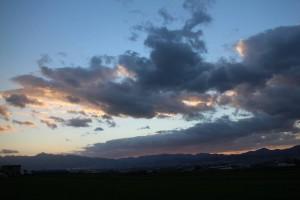 対岸からの夕焼け