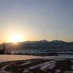 日の出風景