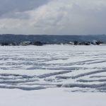 融雪剤の景色