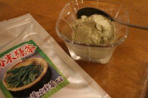 緑茶のアイスクリーム