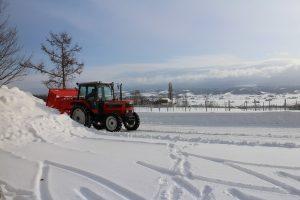 中野さん、除雪
