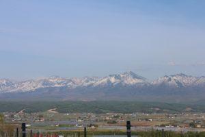 残雪の風景