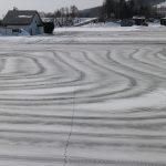 融雪剤の風景